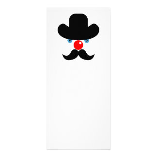 Funny clown face rack card