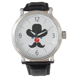 Funny clown face watch