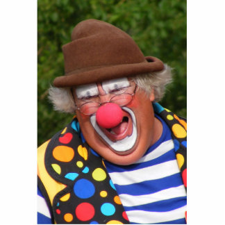 Funny Clown Standing Photo Sculpture