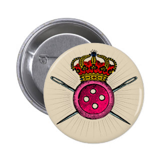 Funny Coat of Arms For People Who Love Sewing 6 Cm Round Badge