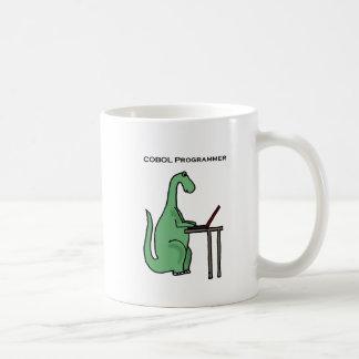 Funny COBOL Programmer Dinosaur Coffee Mug