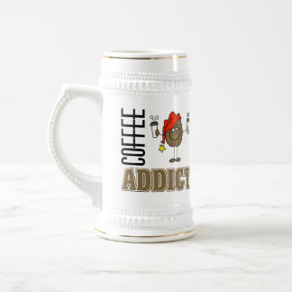 Funny Coffee Addict Beer Steins