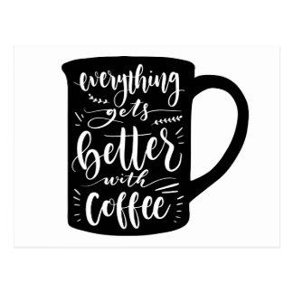 Funny Coffee Addict Caffeine Quote Hello Love Postcard