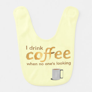 Funny Coffee Baby Bib