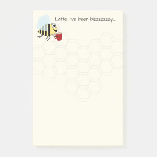 Funny Coffee Bee Design Post-it Notes