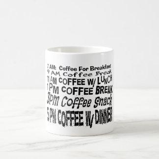 Funny Coffee Break Schedule Coffee Gift Mugs