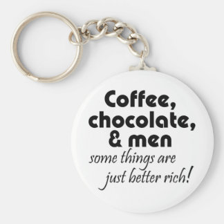 Funny coffee chocolate keychains gifts joke quotes