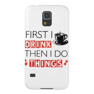Funny Coffee designs Case For Galaxy S5