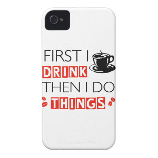 Funny Coffee designs iPhone 4 Case