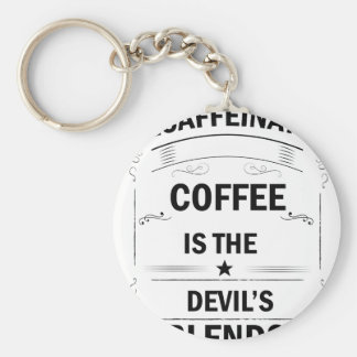 funny coffee drink key ring