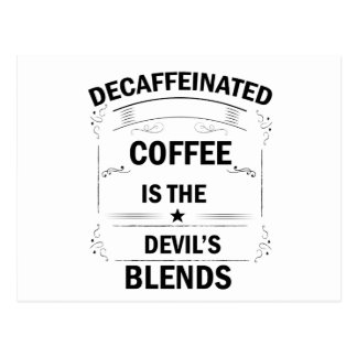 funny coffee drink postcard