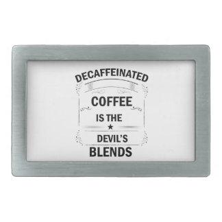 funny coffee drink rectangular belt buckle