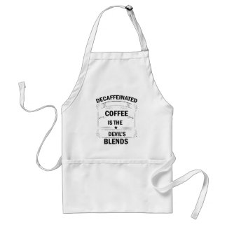funny coffee drink standard apron