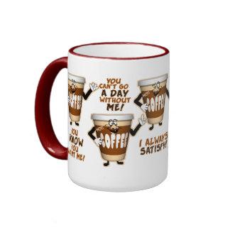 Funny Coffee Humor Ringer Coffee Mug