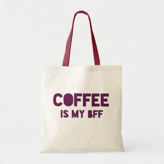 Funny Coffee is my BFF red font statement Tote Bag