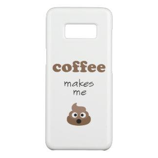 Funny coffee makes me poop emoji phrase Case-Mate samsung galaxy s8 case