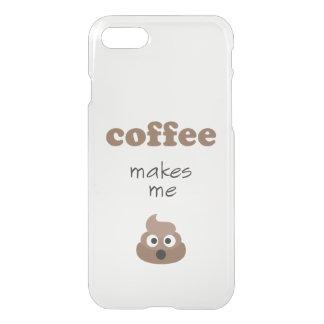 Funny coffee makes me poop emoji phrase iPhone 8/7 case
