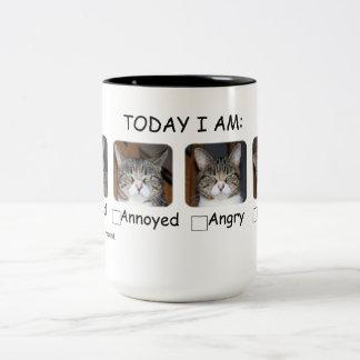 Funny Coffee Mug Cat Mood Meter