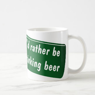 Funny coffee mug for beer lovers