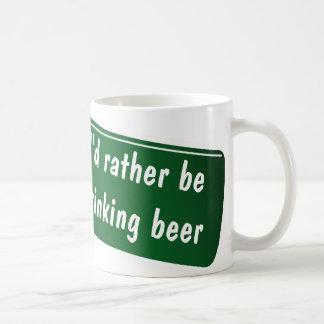 Funny coffee mug for beer lovers