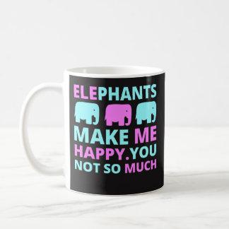 Funny Coffee Mug Gift - Elephants Make Me Happy