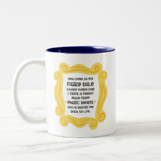 Funny coffee mug magic bean potion fairy tale
