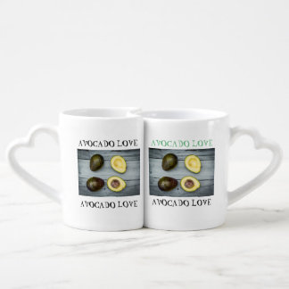 Funny coffee mug set for avocado lovers