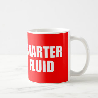 Funny Coffee Quote: Starter Fluid Basic White Mug