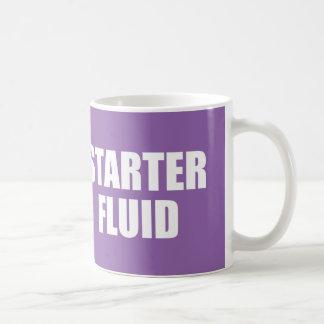 Funny Coffee Quote: Starter Fluid Coffee Mug