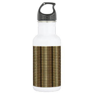 Funny Coin Stacking. Coins Stack Pattern 532 Ml Water Bottle