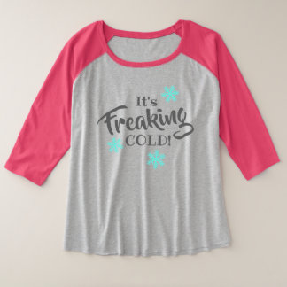 Funny Cold Weather Blues Plus Size Raglan T-Shirt