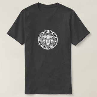Funny College Shield With Mottoes T-Shirt