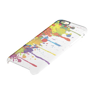 FUNNY COLOR SPLASH II + your backgr. & ideas Clear iPhone 6/6S Case