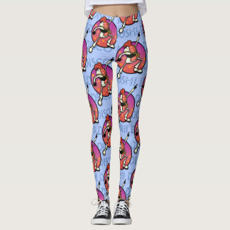 FUNNY COLORFUL DISCO SUSHI GRAPHIC LEGGINGS