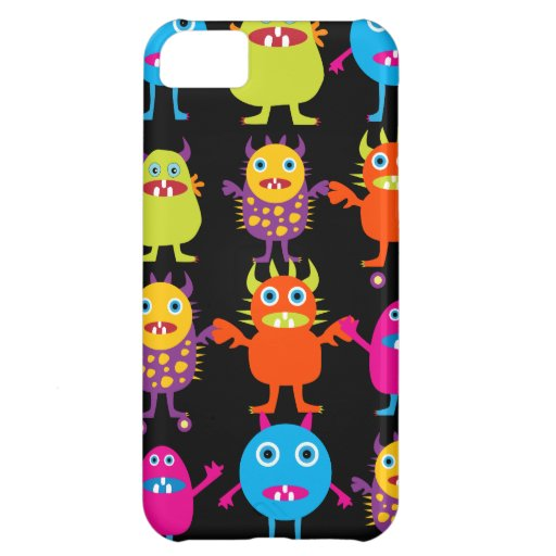 Funny Colorful Monster Party Creatures Characters Case For iPhone 5C