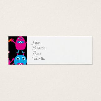 Funny Colorful Monster Party Creatures Characters Mini Business Card