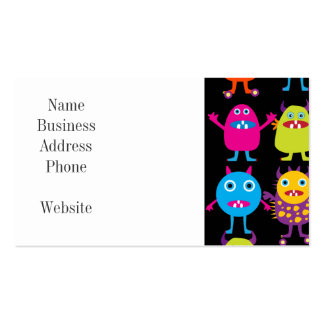 Funny Colorful Monster Party Creatures Characters Pack Of Standard Business Cards