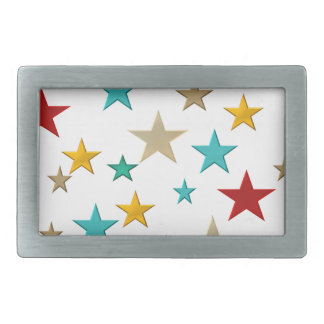 Funny, colorful stars belt buckle