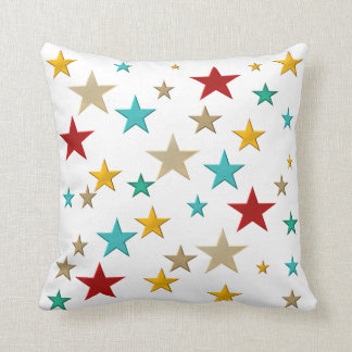 Funny, colorful stars cushion