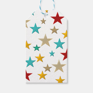 Funny, colorful stars gift tags