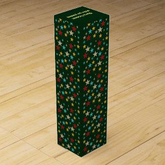 Funny, colorful stars wine gift box