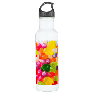 Funny Colorful Sweet Candies Food Lollipop Photo 710 Ml Water Bottle