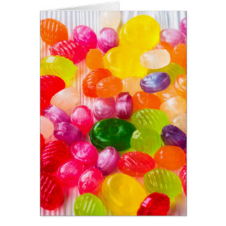 Funny Colorful Sweet Candies Food Lollipop Photo Card