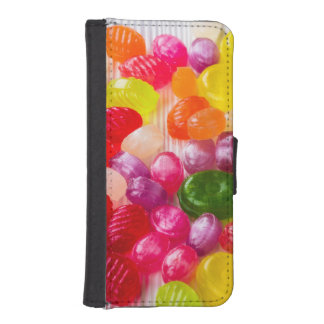 Funny Colorful Sweet Candies Food Lollipop Photo iPhone SE/5/5s Wallet Case