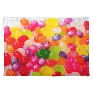 Funny Colorful Sweet Candies Food Lollipop Photo Placemat