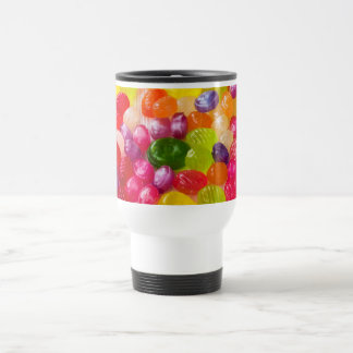 Funny Colorful Sweet Candies Food Lollipop Photo Travel Mug