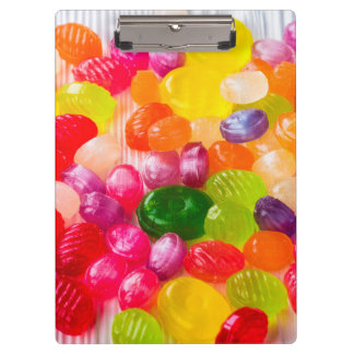 Funny Colorful Sweet Candies Food Lollipop Picture Clipboard