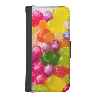 Funny Colorful Sweet Candies Food Lollipop Picture iPhone SE/5/5s Wallet Case