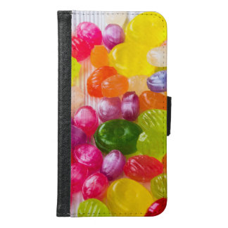 Funny Colorful Sweet Candies Food Lollipop Picture Samsung Galaxy S6 Wallet Case