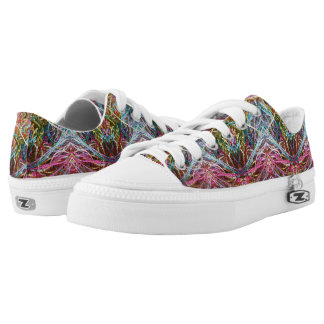 Funny Colorful Yarn Zipz Low Top